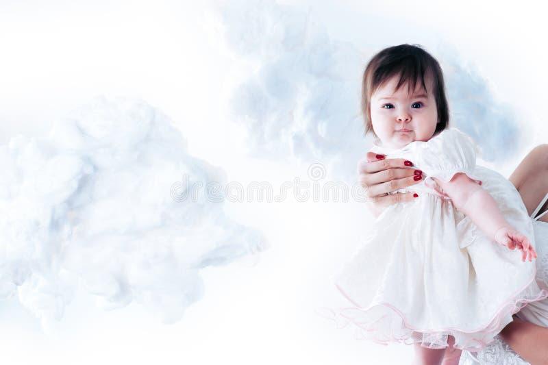 婴孩飞行 库存照片