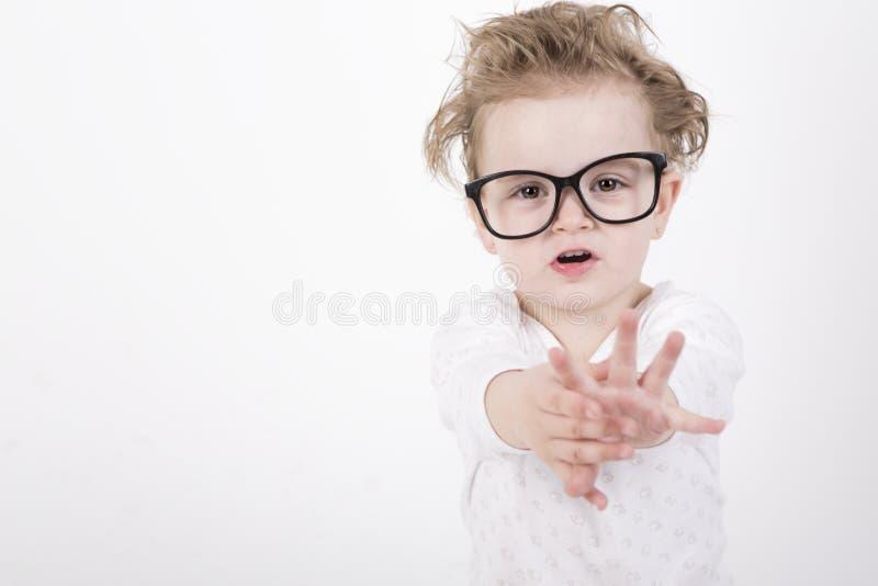 婴孩玻璃 免版税图库摄影