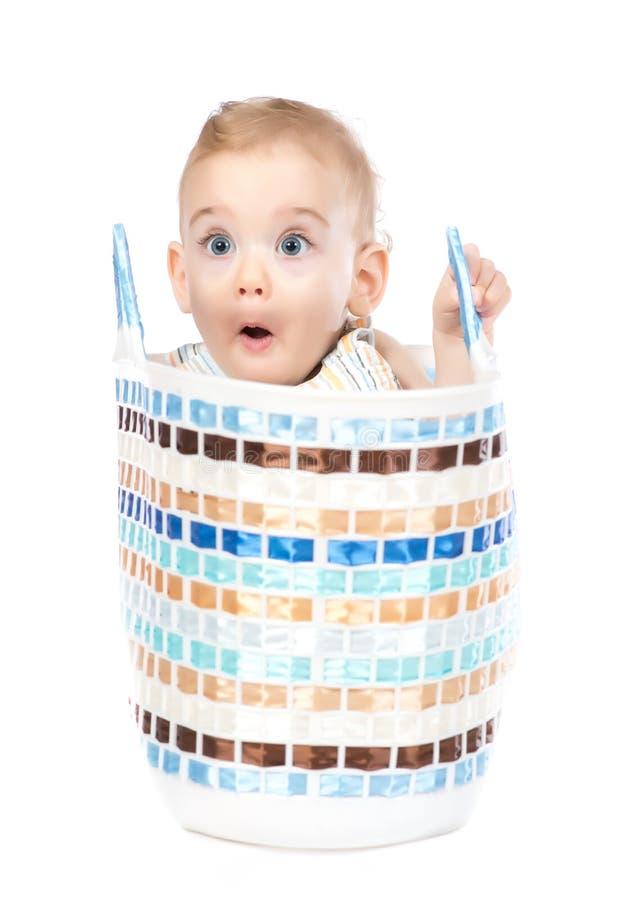 婴孩滑稽的面孔 免版税库存照片
