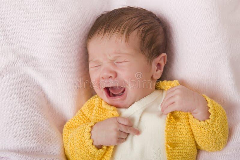 年轻婴孩画象 免版税库存图片