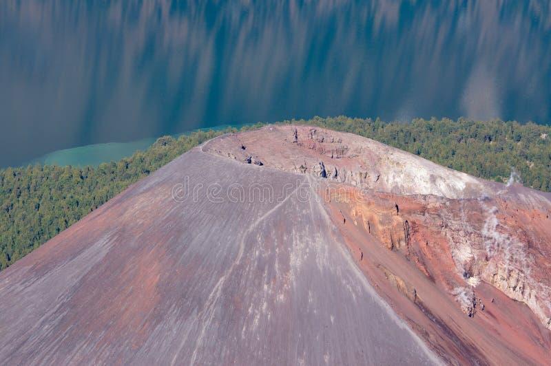 婴孩Rinjani火山火山口 图库摄影