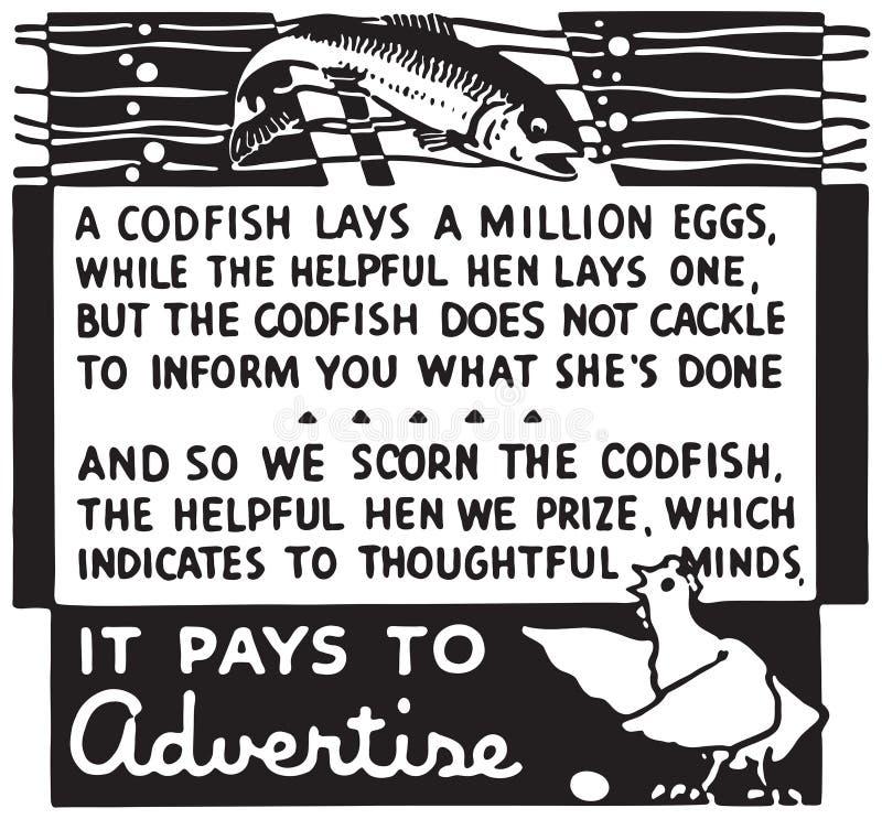 它支付做广告 库存例证