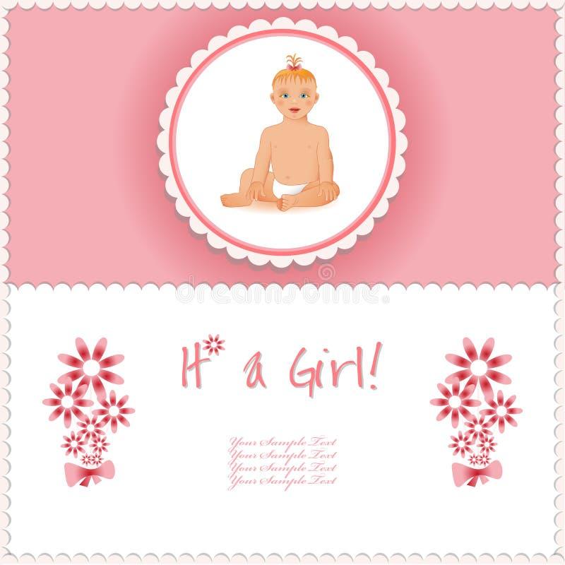它是女孩卡片或背景 皇族释放例证