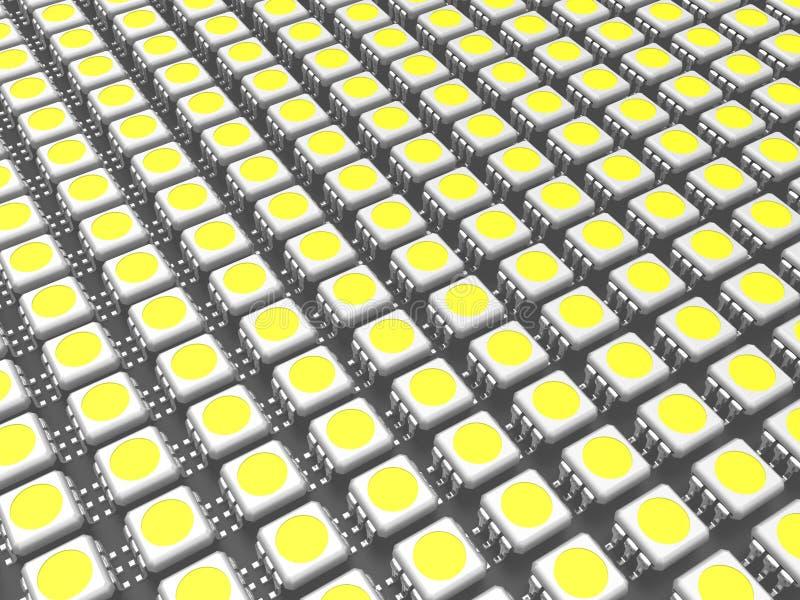 它是很多LED芯片 皇族释放例证