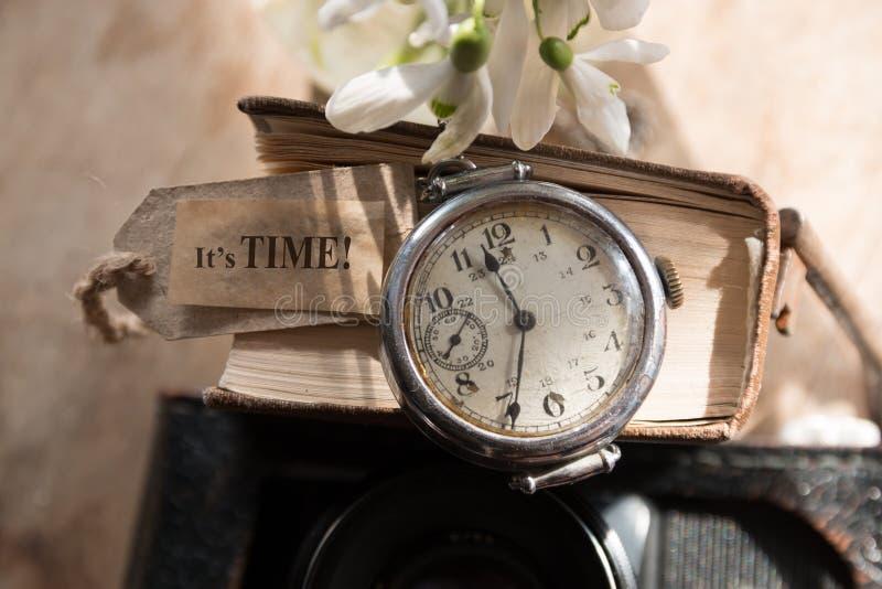 它是时间概念 库存照片