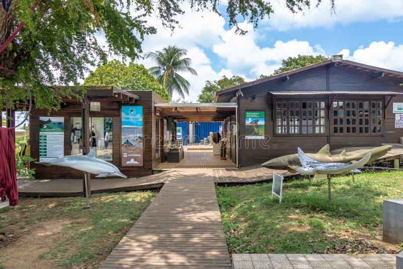 它玛项目Projeto它玛在Boldro村庄-费尔南多・迪诺罗尼亚群岛, Pernambuco,巴西总部设 免版税库存照片