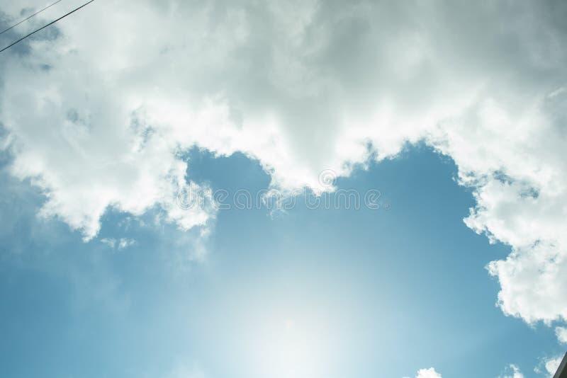 它韩国的` s天空 库存照片