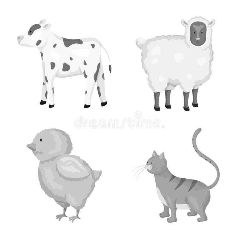 宅基和农业标志传染媒介设计  宅基和厨房股票简名的汇集网的 库存例证
