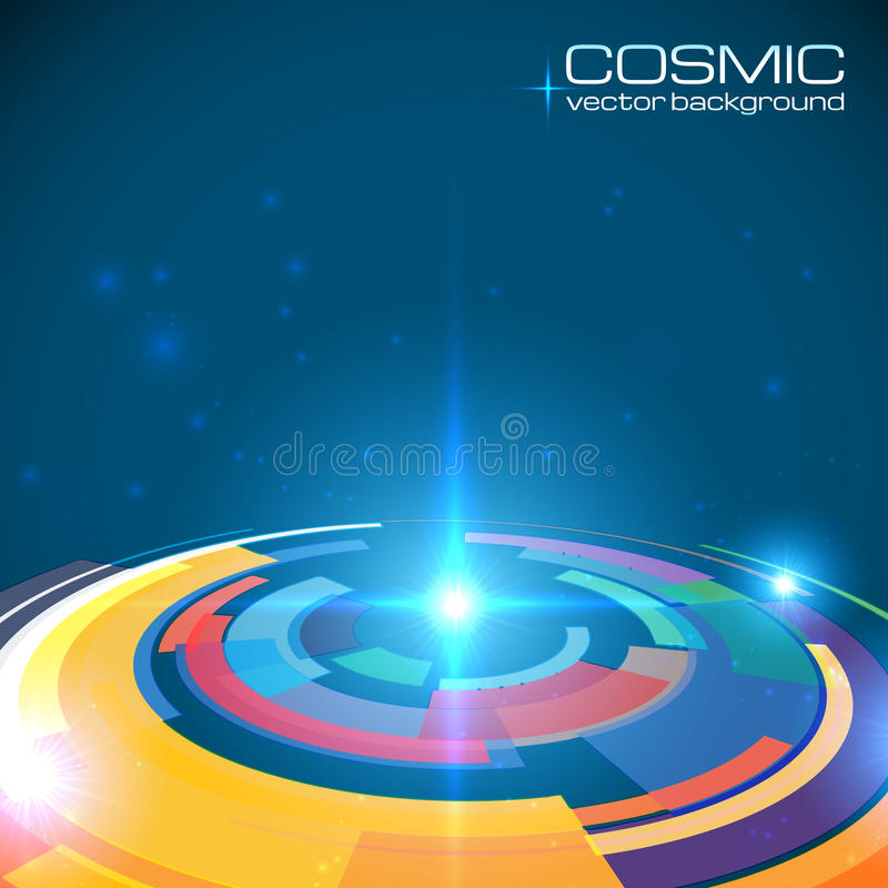 宇宙五颜六色的光亮的圆盘摘要 皇族释放例证