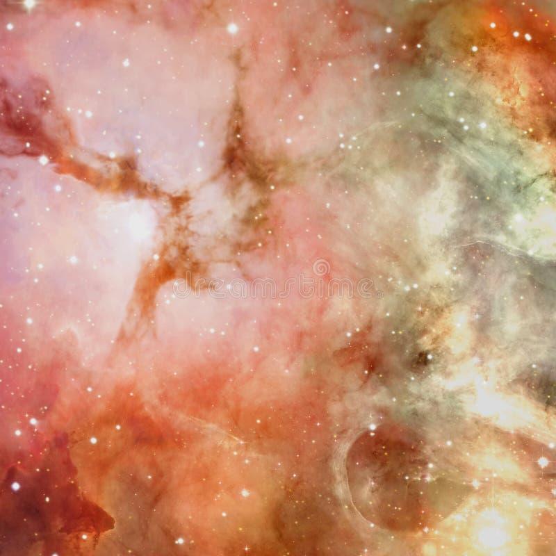 宇宙充满星、星云和星系 皇族释放例证