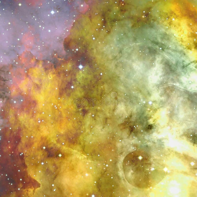 宇宙充满星、星云和星系 免版税库存照片