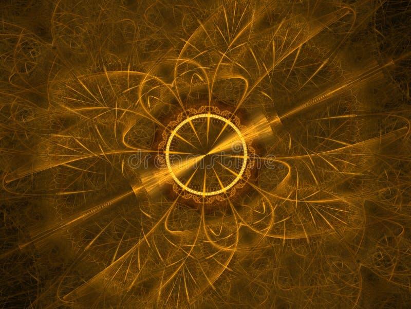宇宙几何 在空间的轻的现象 闪光和闪电在疲倦天空中 抽象分数维坛场例证 ?treadled 皇族释放例证