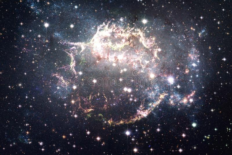 宇宙填装了星、星云和星系 宇宙艺术,科幻墙纸 库存照片