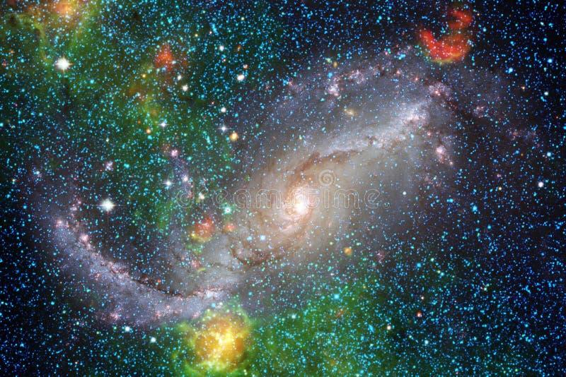 宇宙填装了星、星云和星系 宇宙艺术,科幻墙纸 图库摄影