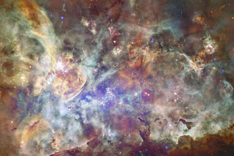 宇宙填装了星、星云和星系 宇宙艺术,科幻墙纸 免版税库存图片
