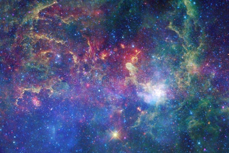 宇宙填装了星、星云和星系 宇宙艺术,科幻墙纸 向量例证