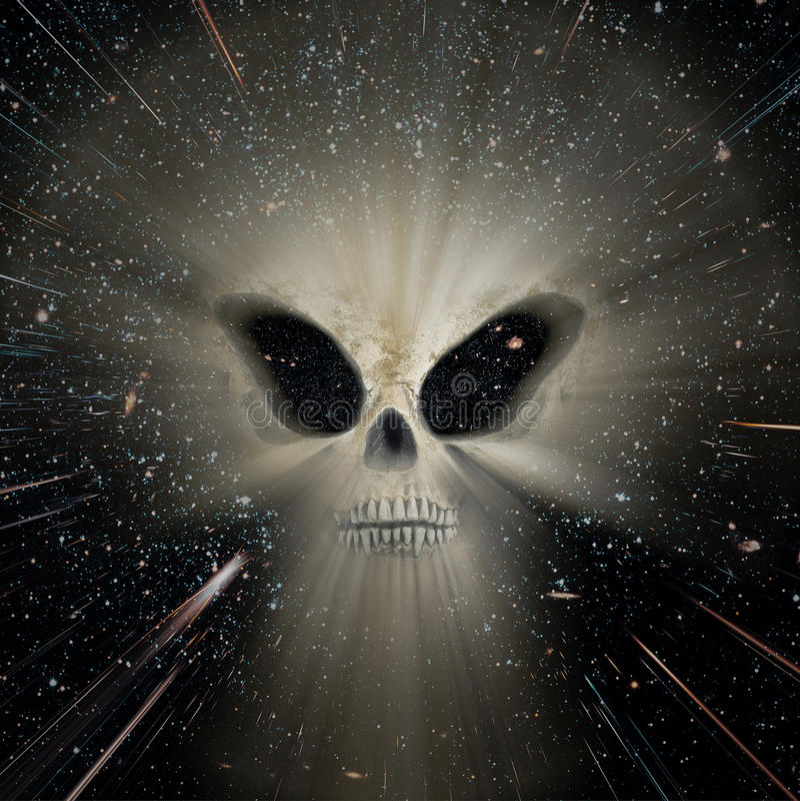 宇宙外籍人威胁 免版税图库摄影