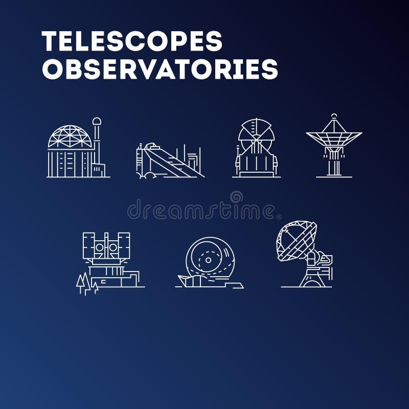 宇宙望远镜象,神圣例证,观测所标志,天文象,火箭,科学,空间,星系 皇族释放例证