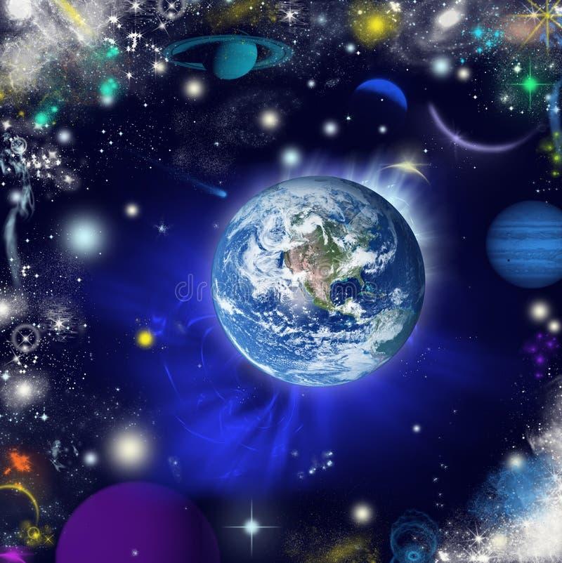 宇宙的抽象视觉 免版税库存图片