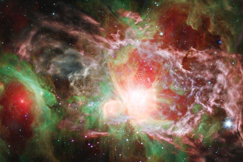 宇宙风景,与不尽的外层空间的令人敬畏的科幻墙纸 库存图片