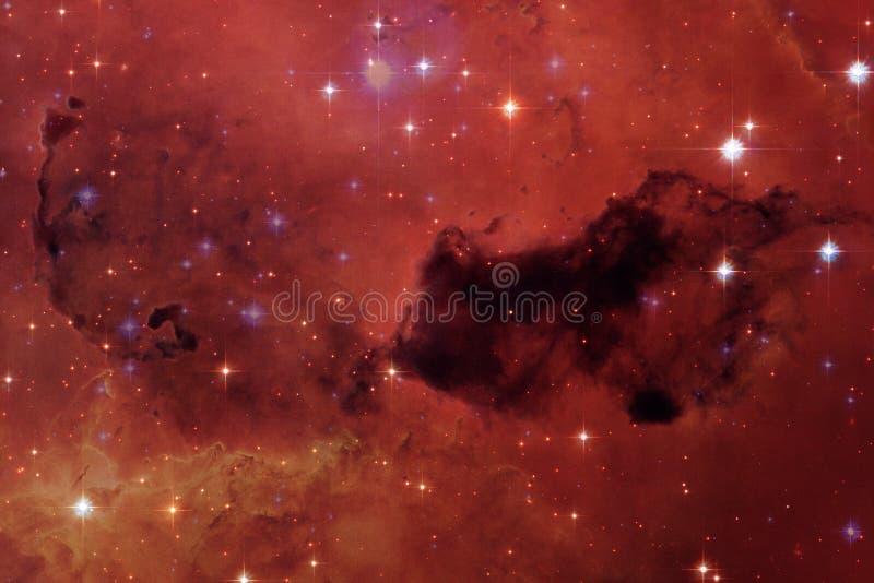 宇宙风景,令人敬畏的科幻墙纸 免版税库存照片