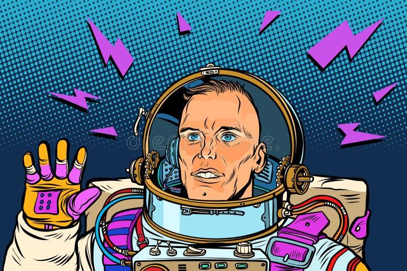 宇航员你好姿态 库存例证