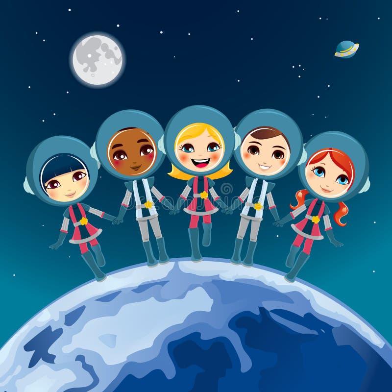 宇航员儿童梦想 皇族释放例证