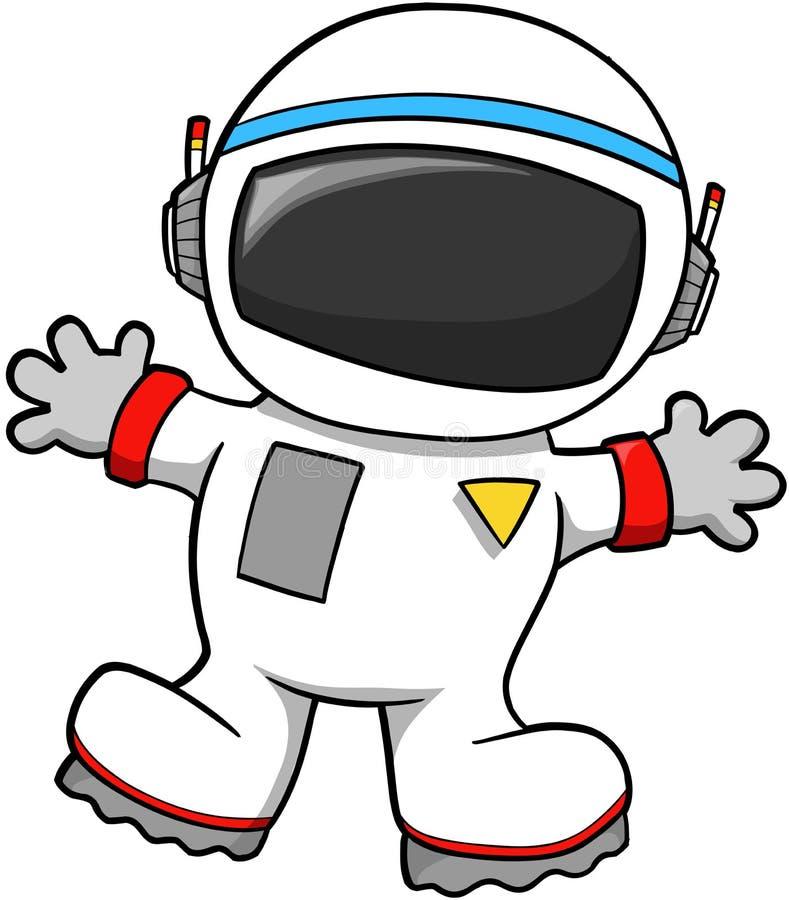 宇航员向量 向量例证