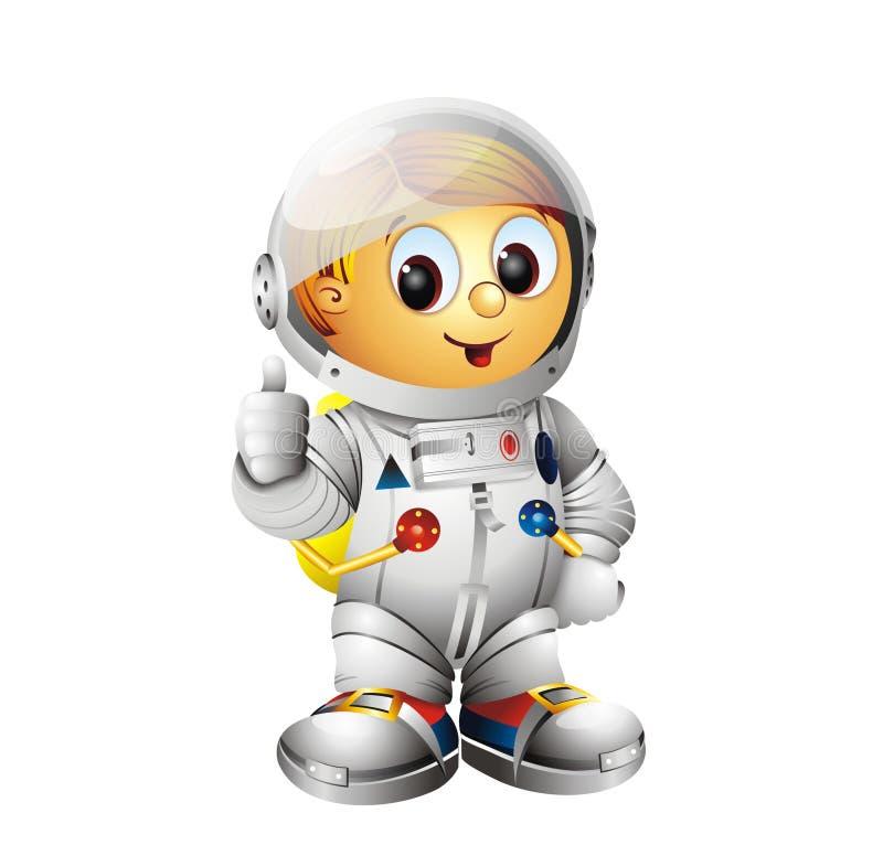 宇航员字符太空人 免版税库存图片