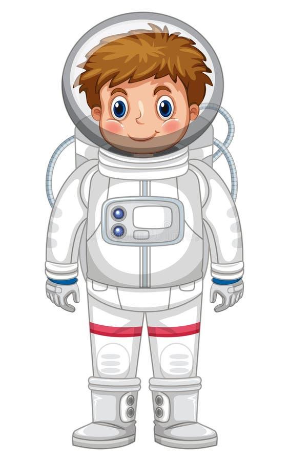 宇航员成套装备的男孩 库存例证