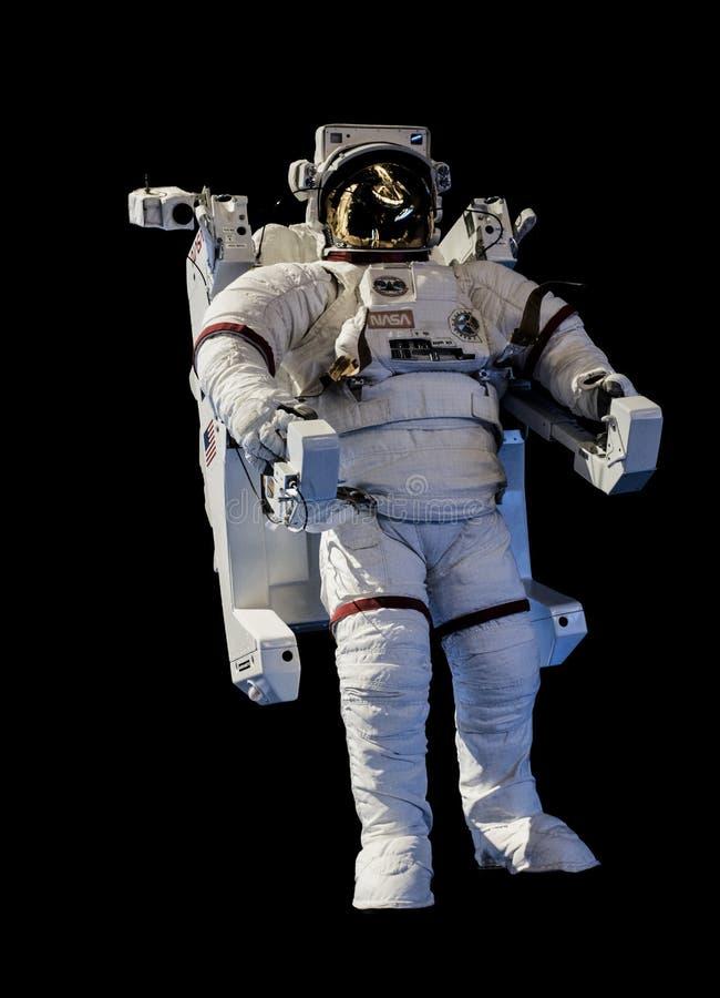 宇航员浮动的空间 免版税库存图片