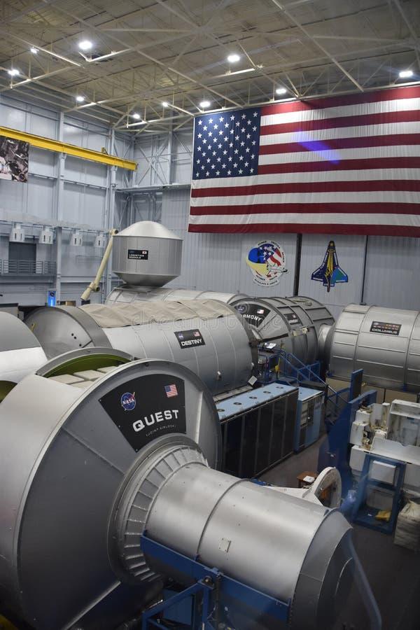 宇航员训练设施在航天中心休斯敦在得克萨斯 库存图片