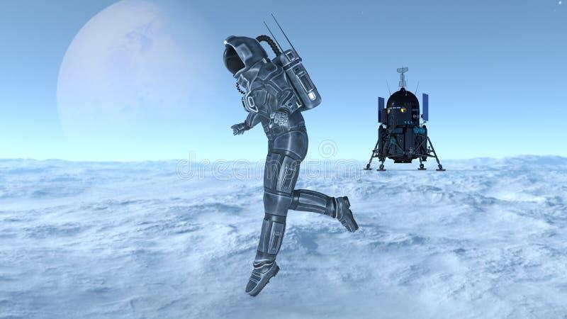 Download 宇航员 库存例证. 插画 包括有 向船外, 外面, 重力, 技术, 空间, 工作, 行星, 工作室, 科学 - 59106869