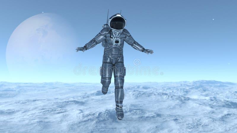 Download 宇航员 库存例证. 插画 包括有 空间, 行星, 重力, 工作, 外面, 科学, 向船外, 技术, 工作室 - 59106883