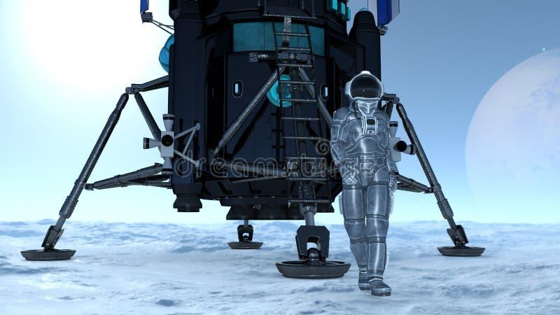 Download 宇航员 库存例证. 插画 包括有 工作, 技术, 行星, 空间, 重力, 科学, 外面, 诉讼, 向船外 - 59106892