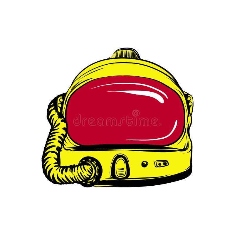 宇航员` s盔甲 向量例证