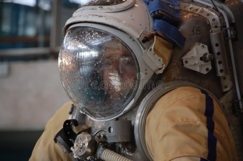宇航员barratt迈克尔培训我们 库存图片