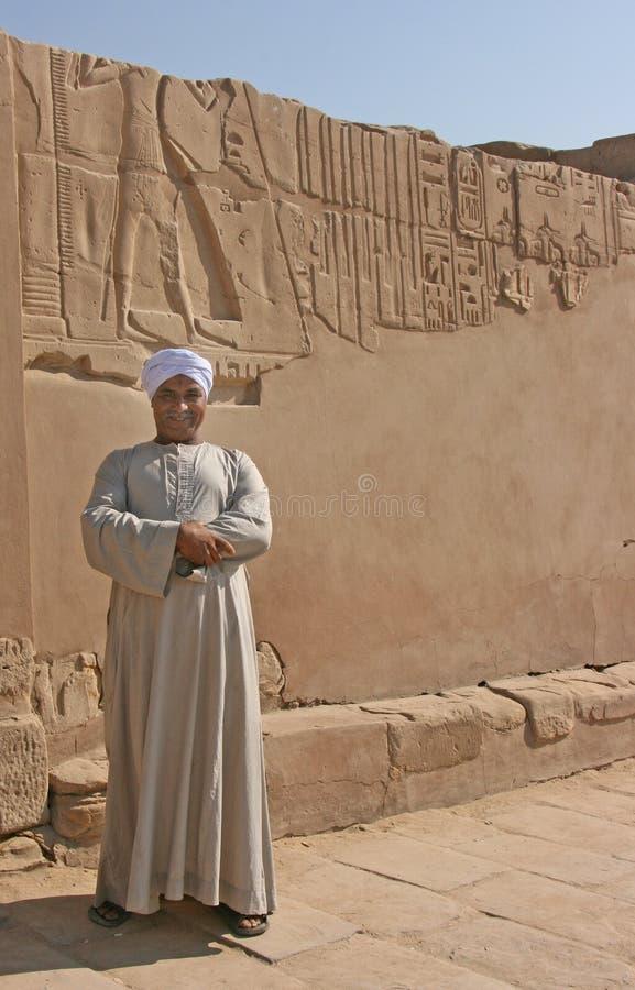 守卫入口的埃及人对菲莱寺庙 免版税库存图片