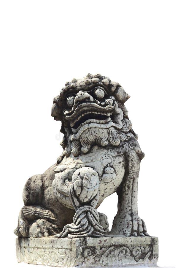 中国被称呼的生物雕象 库存图片