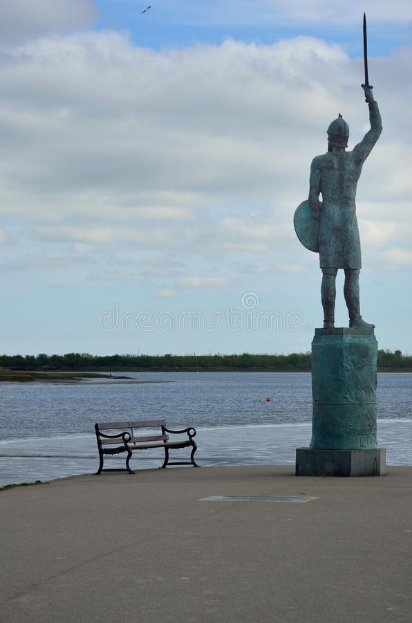 守卫河和位子的战士 库存照片