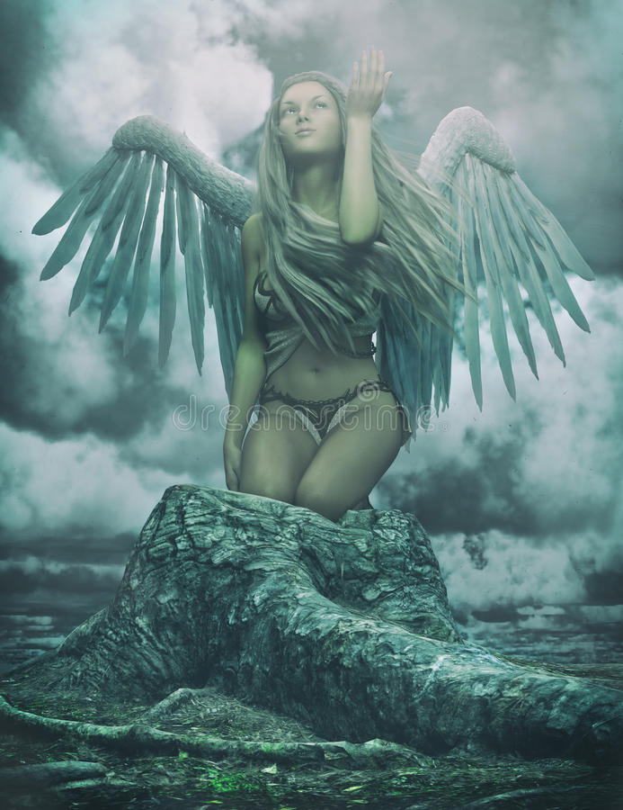 守护天使 向量例证
