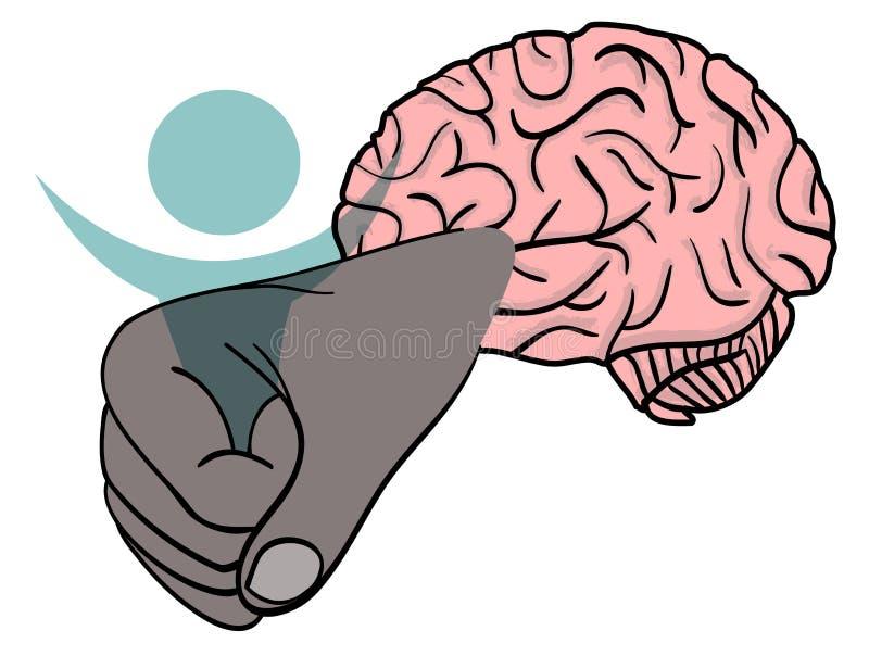 守护程序换码您夹子的头脑 向量例证