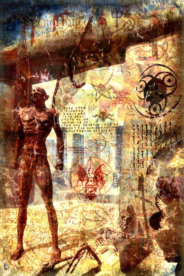 守护程序绘画 皇族释放例证