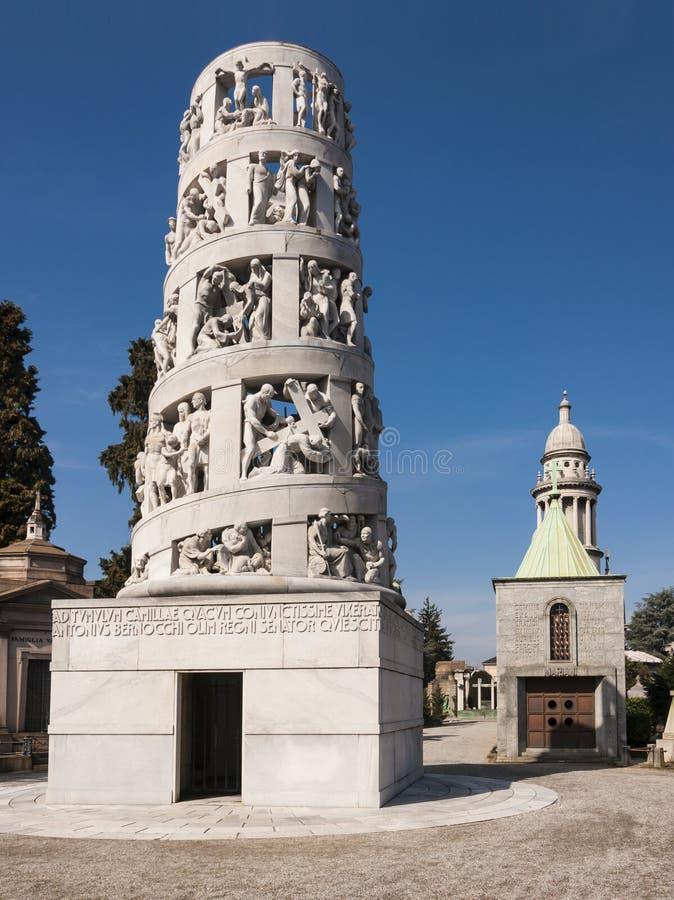 安东尼奥Bernocchi陵墓  库存照片