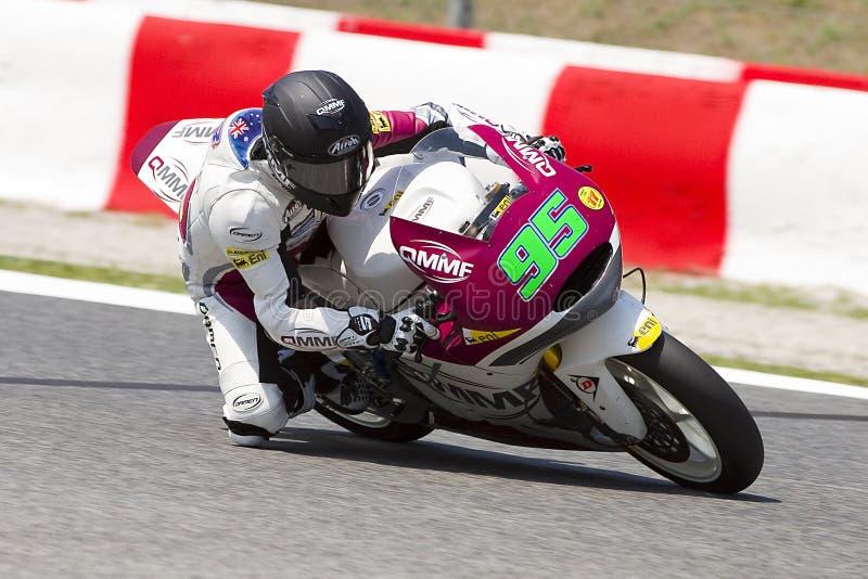 安东尼西方赛跑的Moto2 库存照片
