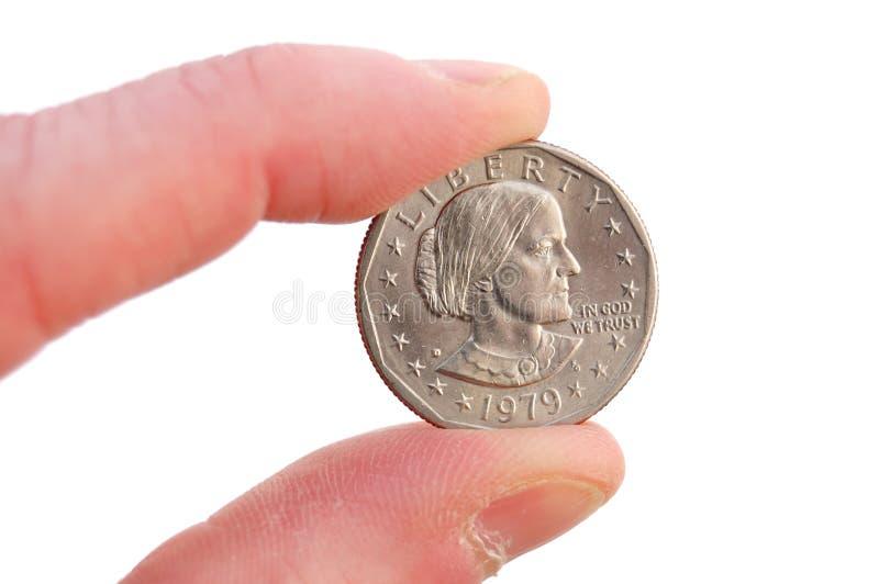 安东尼b接近的美元苏珊 免版税库存照片