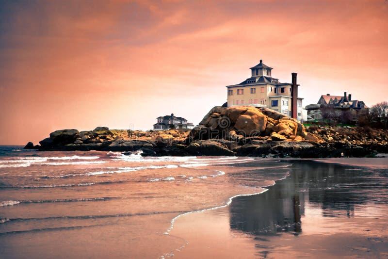 安使海角马萨诸塞靠岸 库存图片