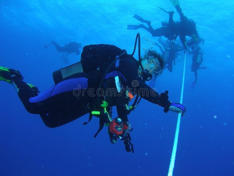 安全中止的潜水者 免版税库存图片