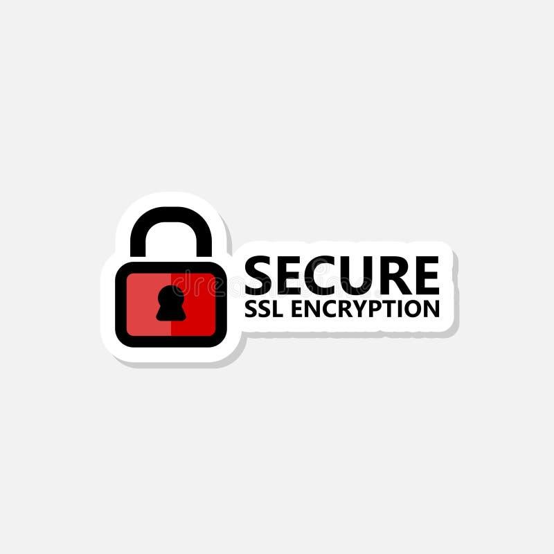 安全互联网连接SSL贴纸 隔绝获取对互联网例证设计的锁通入 向量例证