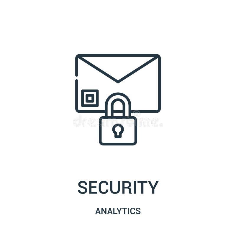 安全从逻辑分析方法汇集的象传染媒介 稀薄的线安全概述象传染媒介例证 向量例证